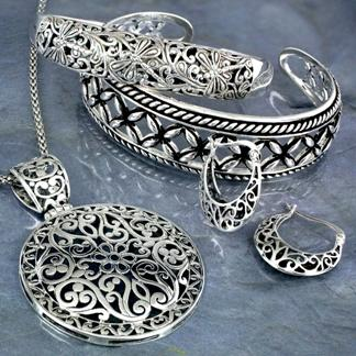 Indian silver jewelry