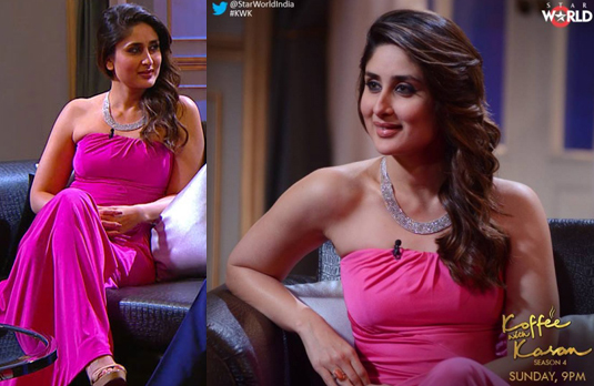 Kareena Kapoor Wearing Pink Gown   The Best & the Worst Dressed on Koffee with Karan