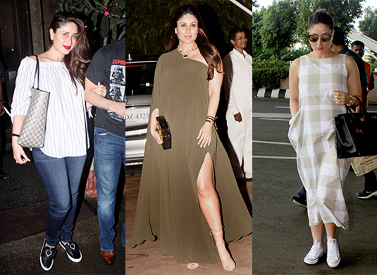 Style Evolution of Kareena Kapoor - Pre and Post Pregnancy - maternity looks