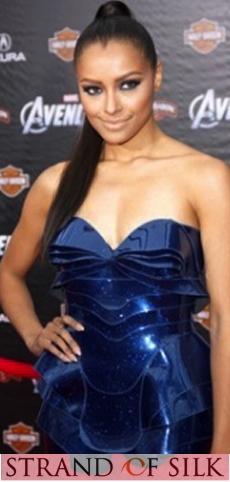 Katy Graham Wearing Blue Dress | CELEBRITIES CHOSE INDIAN DESIGNERS