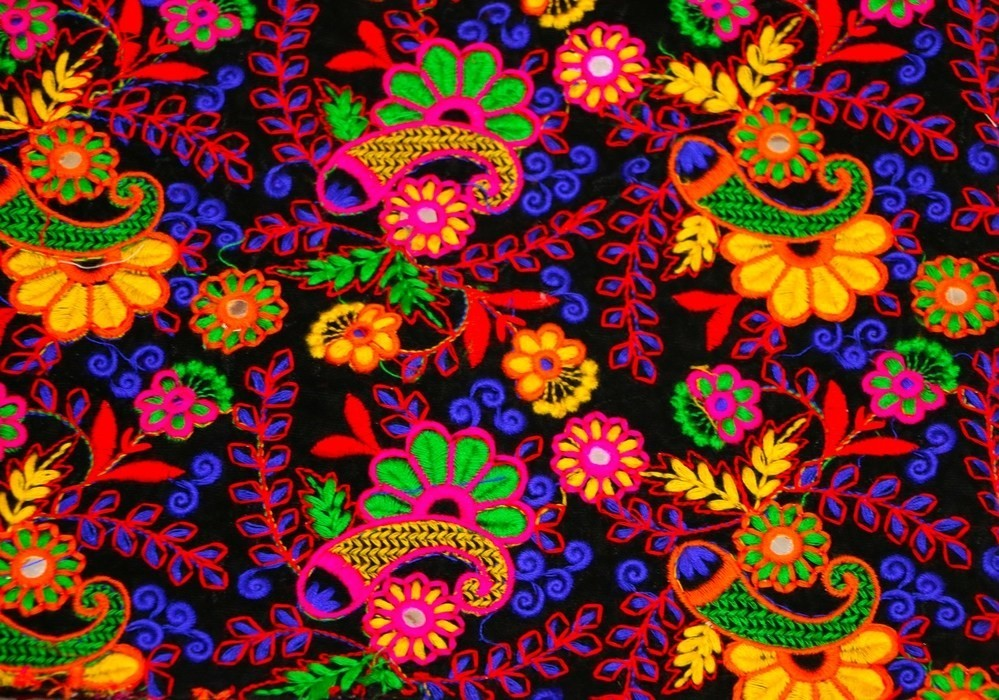 Vibrant Colours And Motifs In Kutch Embroidery