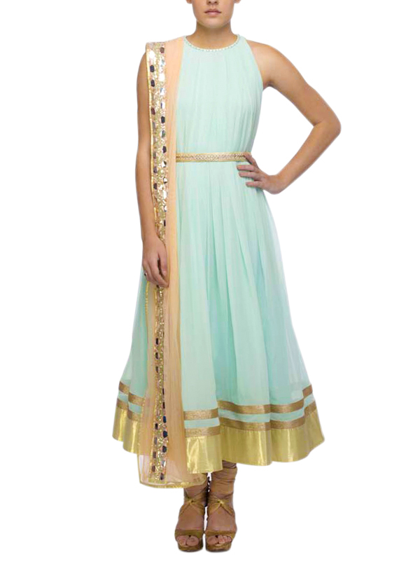 Pretty Pastel Anarkali by Nidhika Shekhar | 5 Essential Indian Outfits Every Woman Should Own