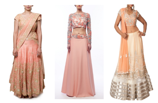 Non Conventional Bridal Lehengas | Light Coral Related Products