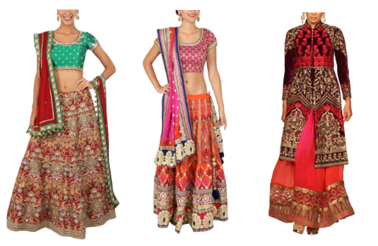 Non Conventional Bridal Lehengas | Multicoloured Related Products