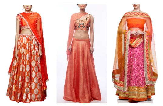 Non Conventional Bridal Lehengas | Orange Related Products