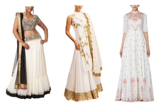 Non Conventional Bridal Lehengas | White Related Products