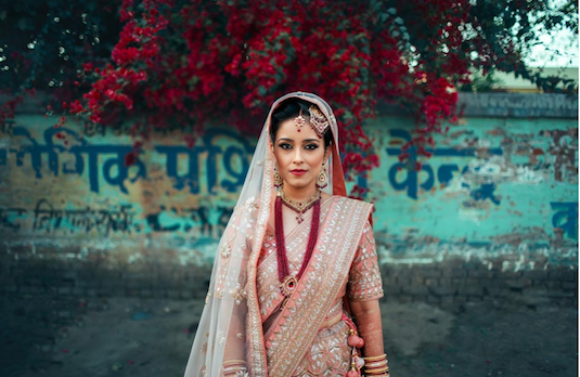Non Conventional Bridal Outfit Colours | Light Coral 2