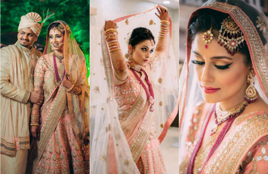 Non Conventional Bridal Outfit Colours | Light Coral 3
