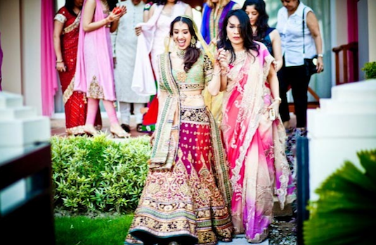 Non Conventional Bridal Outfit Colours | Multicoloured 1