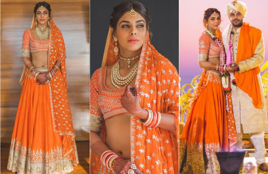 Non Conventional Bridal Outfit Colours | Orange 2