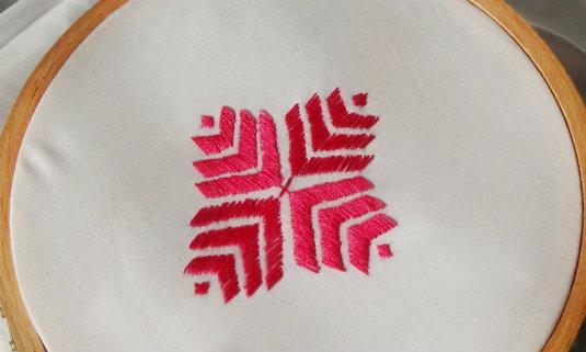 Phulkari Embroidery - Embroidered Motif Frame