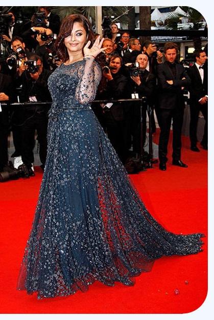 Aishwarya Rai Wearing Navy Embellished Gown | Aishwarya Rai Bachchan at Cannes Film Festival: Over the years