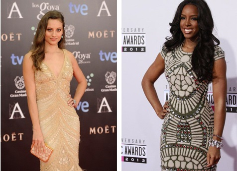 Kelly Rowland and Jenner Wearing Naeem Khan | Hollywood Celebrities going GaGa over Indian Designers!