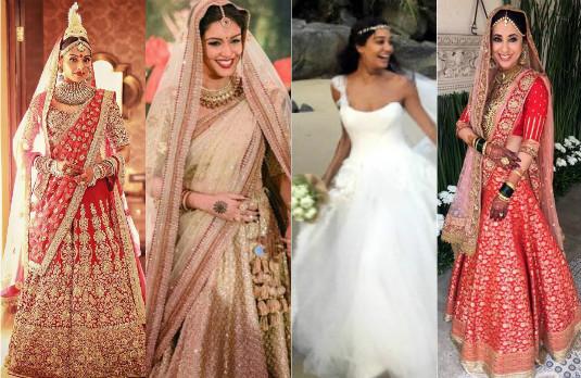 Sartorial Indian Celebrity Wedding Choices | Brides