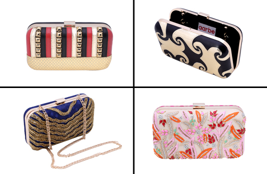 Selection of Aarbe Clutches | Designer Focus: Ridhima Bagla, Aarbe