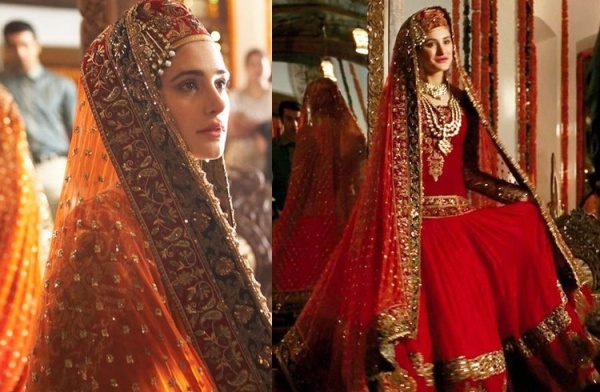 A scene from Rockstar Movie showing the traditional Kashmiri bridal outfit