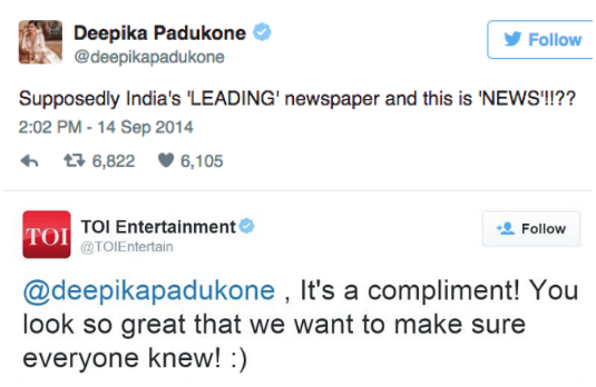 Deepika Padukone v/s Times Of India | Indian Celebrities Involved With Nasty Twitter Trolls