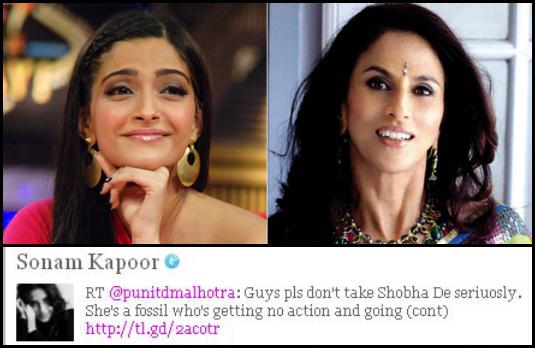 Sonam Kapoor v/s Shobha De | Indian Celebrities Involved With Nasty Twitter Trolls