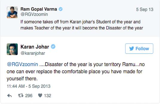 RGV VS KJo | Indian Celebrities Involved With Nasty Twitter Trolls