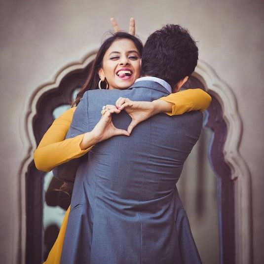 Indian Wedding Photography Ideas: Totally Adorbs (And Unique) Couple Portrait Poses