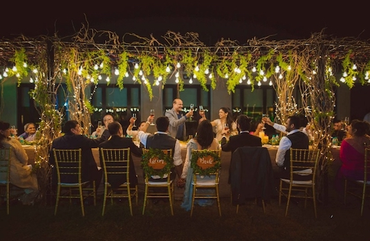 Western Wedding Ideas | Sit Down Dinner & Toasts 1