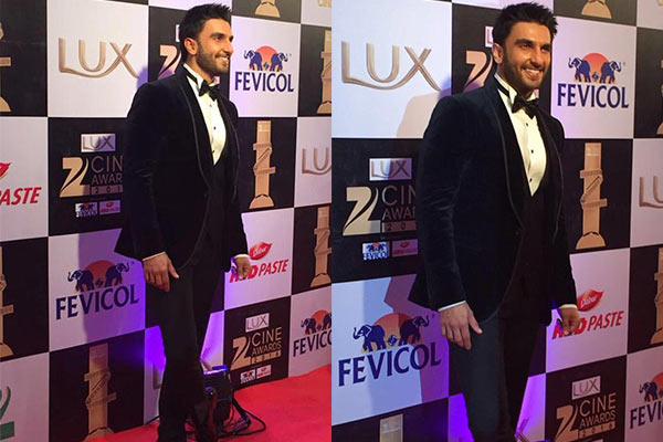 Ranveer Singh | Bollywood Red Carpet Fashion at the Zee Cine Awards