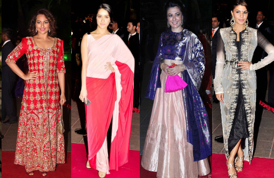 Arpita Khan - Aayush Sharma's Bollywood Wedding   A Look at Bollywood Wedding Guest Outfits