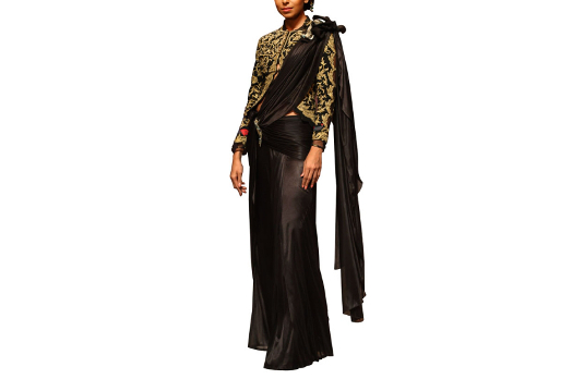 Black draped saree I These Fabulous Saree Gowns Will Make Your Life So Much Easier