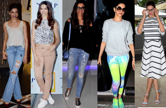 Deepika Padukone's Casual Style | Bollywood Fashion 2015