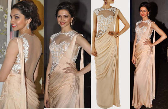 Deepika Padukone in Sonaakshi Raaj Saree Gown I 5 Bollywood Fashion Pieces We Would Love To Have In Our Wardrobe