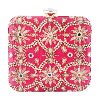 Pink Aarbe Clutch Bag | Indian Wedding Accessories
