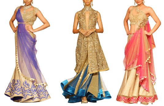Golden Lehengas | Golden Indian Wedding Outfits