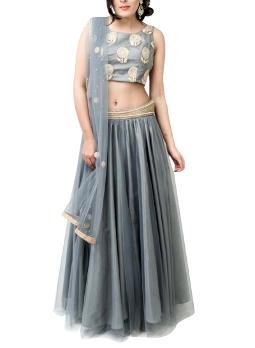 2993856149 Silver Tutu Style Lehenga Set | Dazzling Indian Skirts For The Festive  Season