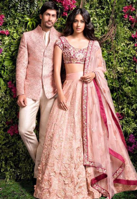 Indian Silhouette For Couple For Reception | Stunning Indian Designer  Dresses For A Wedding Reception