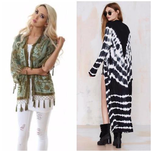 Kaftans as jackets