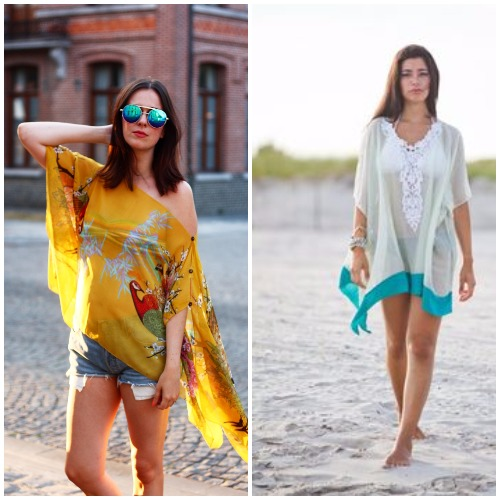 Kaftans as beachwear