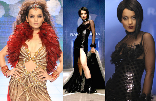 Kangana as Shonali on the Ramp I Fashion in Film - A Look At Stunning Bollywood Costumes in Fashion (2008)