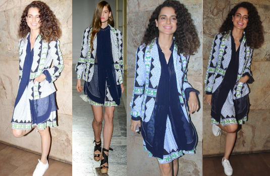 Kangana Ranaut in Aquilano Rimondi Blue Dress I 5 Bollywood Fashion Pieces We Would Love To Have In Our Wardrobe