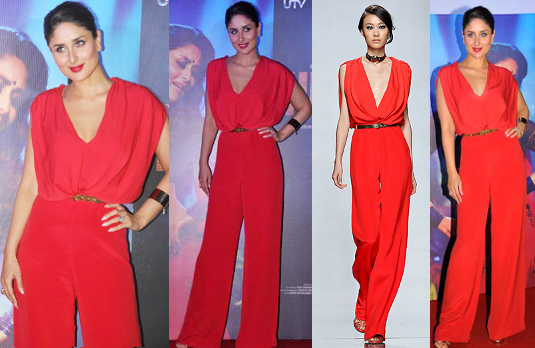 Kareena Kapoor in Red Jumpsuit I 5 Bollywood Fashion Pieces We Would Love To Have In Our Wardrobe