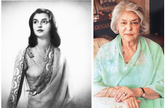 Maharani Gayatri Devi (then and now) | Fashionable Indian Women Through History