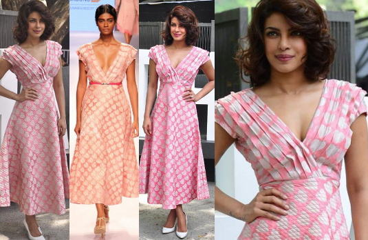 Priyanka Chopra in Pink Dress With White Hearts I 5 Bollywood Fashion Pieces We Would Love To Have In Our Wardrobe