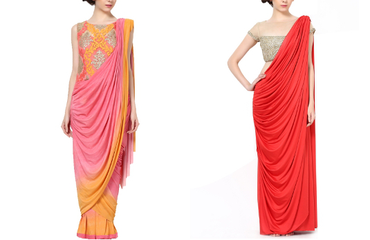 These Fabulous Saree Gowns Will Make Your Life So Much Easier ...