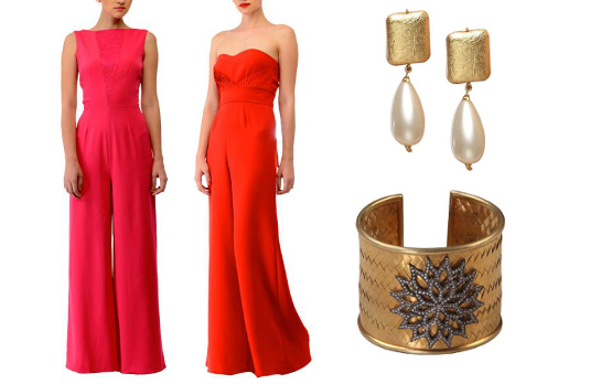 Red jumpsuit look suggestion from our website I 5 Bollywood Fashion We Would Love To Have In Our Wardrobe