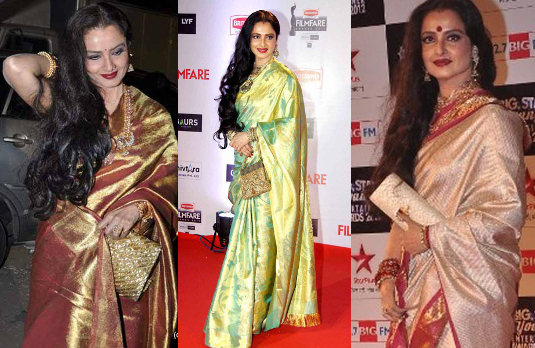 Rekha Wearing Sarees | Fashionable Indian Women Through History