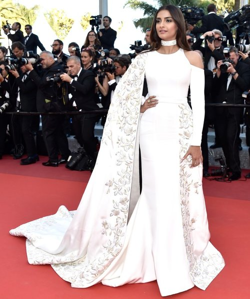 Cannes Festival 2016 , white Ralph and Russo couture gown