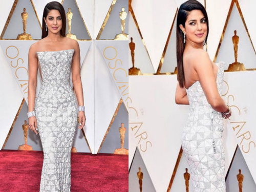 Priyanka Chopra in Ralph and Russo's gown at the Oscars 2017