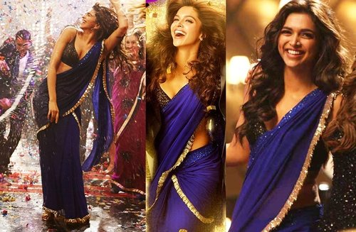 Deepika's blue saree look from Yeh Jawani Hai Deewani