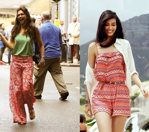 Plazzo pants and Jumpsuits worn by deepika and Diana Penty in Cocktail