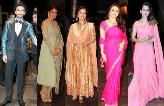 Kriti Sanon, Ranveer Singh, Genelia D'souza, Kangana Ranaut, Zinta and Dia Mirza   A Look at Bollywood Wedding Guest Outfits
