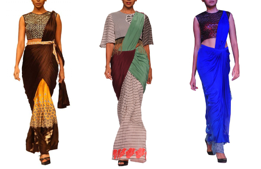 Sougat Paul pre-draped sarees I These Fabulous Saree Gowns Will Make Your Life So Much Easier